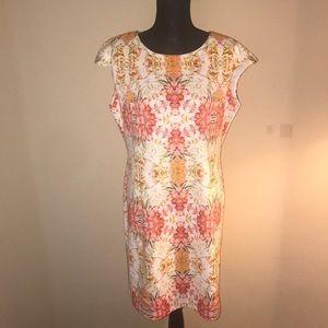 Women's Floral Print Sheath Dress SZ 16